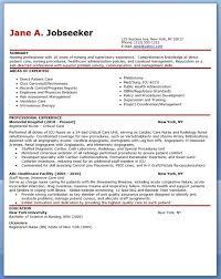 Experienced Nurse Resume Sample