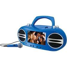 gpx bdbu portable cd dvd player color screen blue gpx bd717bu 7 inch portable cd dvd player karaoke boombox blue