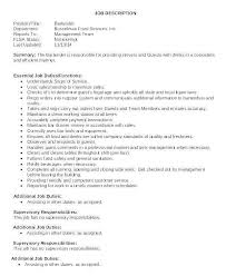 Bartender Duties For Resume Awesome Bartender Job Description Resume Inspirational Waitress Description