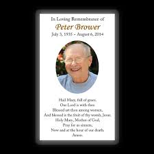 Funeral Remembrance Cards Memorial Card Layout C
