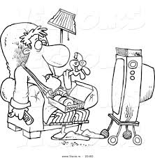 43 Television Coloring Page Mailman Cartoon Colouring Pages