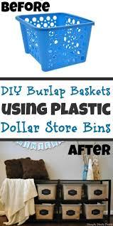 8 from plastic laundry basket to rustic burlap bin