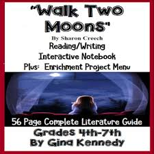 walk two moons novel study enrichment project menu by gina kennedy walk two moons novel study enrichment project menu