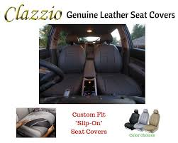 details about clazzio genuine leather seat covers for 2016 2017 toyota prius v black
