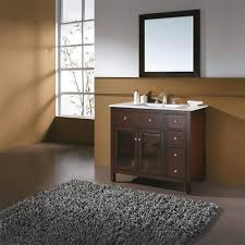 Dark Bathroom Cabinets Bathroom Dark Brown Stained Mahogany Wood Wall Vanity Cabinet