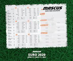 Calendario EURO 2020 gratis!