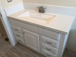 Bathroom Countertops with Sink Built In Inspirational Custom Built White  Concrete Countertop with Integrated Sink and