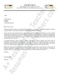 Math Instructor Cover Letter Sarahepps Com