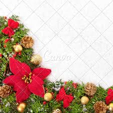 Christmas Border Design Images Christmas Border With Traditional Decorationsand Poinsettia