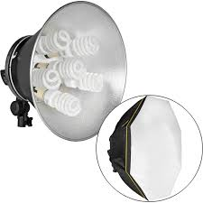 Raya Octa Fluorescent 7 Socket Fixture 1 Light Softbox Kit Impact Octacool 6 Fluorescent Light Kit With Octabox 6