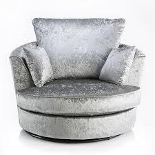 grey velvet chair. Perfect Velvet Michigan Crushed Velvet Silver  Grey Swivel Chair Intended I