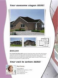 real estate flyer template purple
