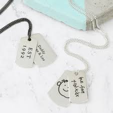 personalised sterling silver dog tag
