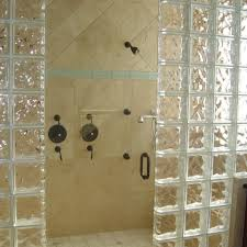 elegant glass block shower wall cost wonderful open bathroom design with gl of fresh easy exterior