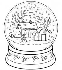 Small Picture Christmas Printable Coloring Page snow globe Christmas