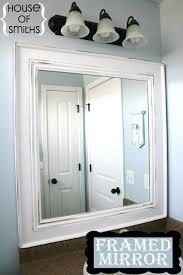nice decoration framed bathroom mirror ideas elegant diy frame and 10 diy for how to