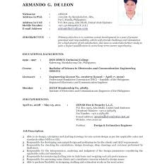 Updated Resume Samples Format Resume Templates Printable Sample In