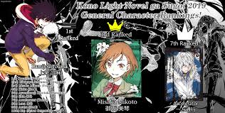 New Light Novels 2019 Kono Light Novel Ga Sugoi 2019 General Character Rankings
