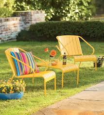 yellow patio furniture. Yellow Patio Furniture Set | Outdoor Seating Plow \u0026 Hearth E