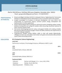 Resume Samples Magnificent Resume Samples For Entry Level Profiles Freshers Graduates New
