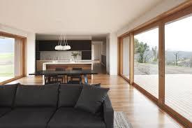 ... Desertlightning Living Dining Open Plan Room Beautiful White Dark Brown  Wood Glass Modern Design Kitchen And ...