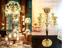 centerpieces candle holders 5 heads crystal candelabra candle holder wedding centerpiece flower vase candle holder glass