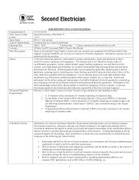 Sample Resume For Industrial Electrician Journeyman Electrician