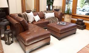elements fine home furnishings corsario 2 piece top grain leather sectional collection bourbon