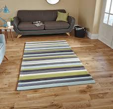 hong kong stripey 2022 blue green rug