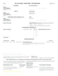 Bill Of Lading Free Form Bill Lading Template Form Good Fresh You Can Download A Of