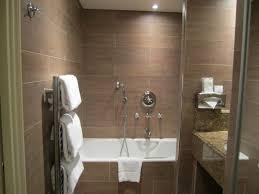 Brown Tiles Bathroom Bathroom White Sink Vanities Dark Brown Wood Vanity White