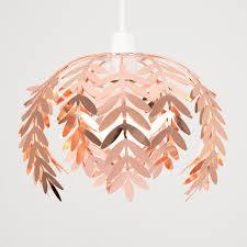 Pretty Light Shades Pinnate Fern Leaf Pendant Shade In Copper Light Shades