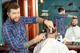 New Haircut Style In Barber Shop Stock Photo Picture And Royalty