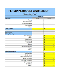 Personal Monthly Budget Spreadsheet Personal Monthly Budget Income Template Excel Monthly Budget