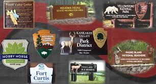 national and statre park signs