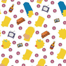 Homer simpson by joshua budich shows homer simpson from the mouth down with crumbs falling from his mouth as he eats a pink, sprinkled donut. Papel De Parede Dos Simpsons Mercadolivre Com Br