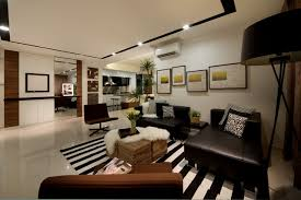 modern apartment living room ideas black. Modern Apartment With A Clean Design Rugs Black Sofa Frame Lighting Panels Unique Wooden Chair And Chic Living Room Ideas