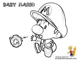 Cool Mario Pictures Coloring Mario Bros Free Cartoon Coloring
