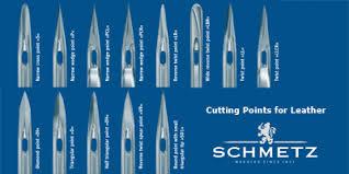 Schmetz Leather Needle Chart 58 Right Schmetz Needle Size Chart