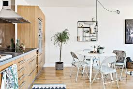 Marvelous One Wall Kitchen Design With Wooden Furniture Set Also Unique One Wall Kitchen Designs Set