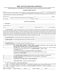 Purchasing Contracts Templates Real Estate Purchase Agreement Form Gtld World Congress
