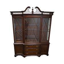 Chippendale China Cabinet Lexington The Palmer Home Collection Large Mahogany Chippendale