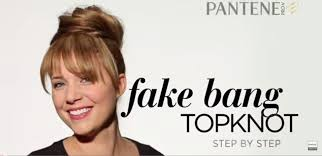 how to make fake bangs hairstyle in 6 easy steps