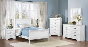 Mayville Full White Bed, Dresser, Mirror & Nightstand by Homelegance at Great American Home Store