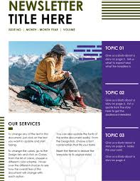 021 Create Newsletter With Ms Word Step Template Ideas