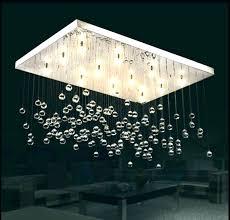 crystal drop chandelier mini style 1 light flush mount spiral