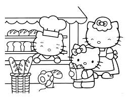 Coloriage Hello Kitty Et Les Animaux