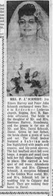 Wedding Announcement for Iva Harvey and John Schmidt in The Leader-Post  (Regina, SK) 8 Dec 1961 - Newspapers.com