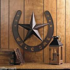 image is loading rustic welcome star horseshoe country cowboy horse metal  on rustic outdoor metal wall art with rustic welcome star horseshoe country cowboy horse metal wall art