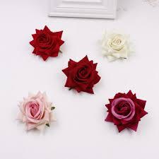 2019 whole 6cm flower artificial silk velvet rose home flower flower diy wedding brooch gift box from hobarte 27 35 dhgate com